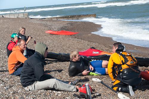 Surfdiskussioner med Jesper som visade sig vara en fena på att surfa.